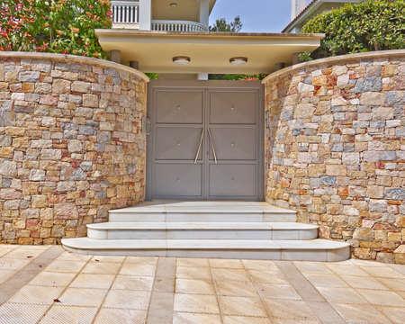 Modern house door, Athens suburbs, Greece Stock Photo