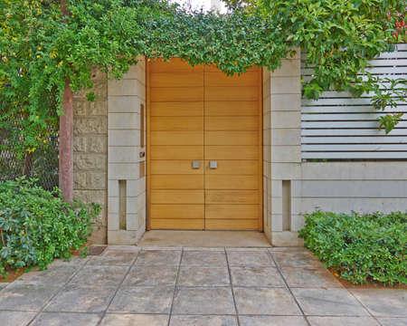 suburbs: Modern house door, Athens suburbs, Greece Stock Photo