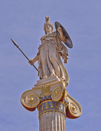 Athena statue, the goddess of science and wisdom, Greece photo