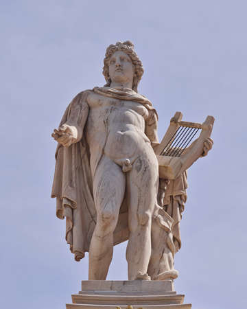 Apollo statue, the god of poetry and music, Athens, Greece photo