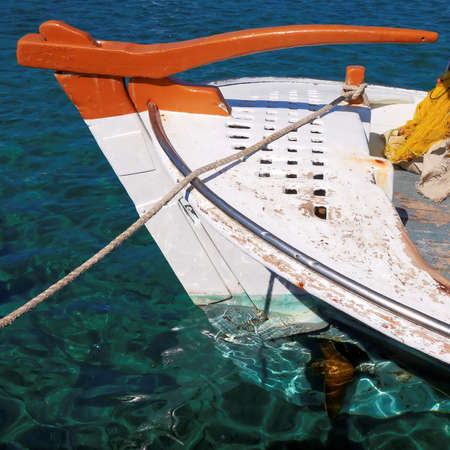 traditonal: traditonal Greek fishing boat, caique