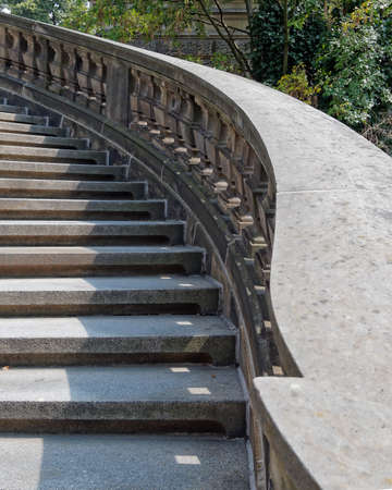 vintage curved outdoor stairs, Dresden Germany photo