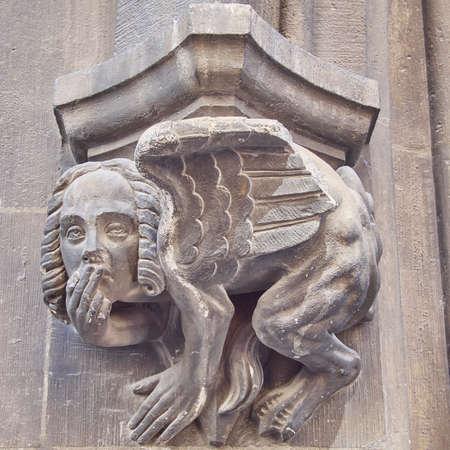 esfinge: Esfinge escultura de cerca, M�nich, Baviera Alemania