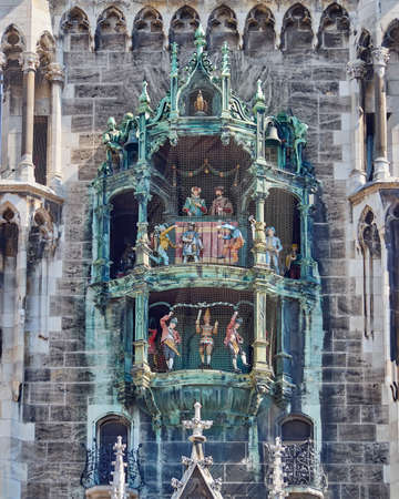 detail of the town hall, Munich, Bavaria Germany photo