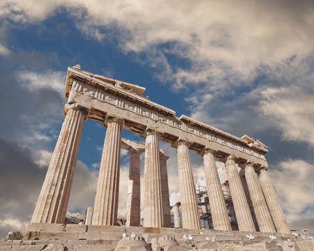 acropolis: Acropolis of Athens Greece, Parthenon ancient temple Stock Photo