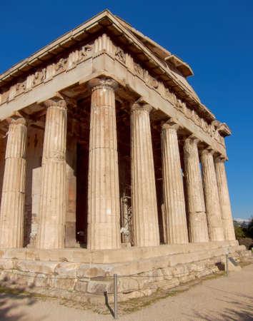 dorian: Temple of Hephaestus under Acropolis of Athens, Greece