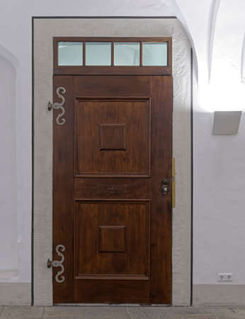 paveway: illuminated vintage door in Altenburg, Thuringen, Germany