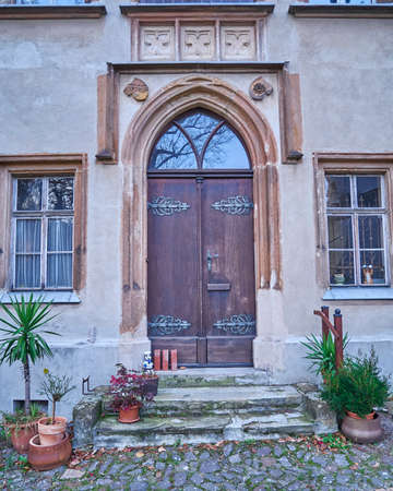 paveway: vintage door in Altenburg, Thuringen, Germany