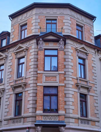 renovate old building facade: Renovated old building facade, Altenburg, Germany