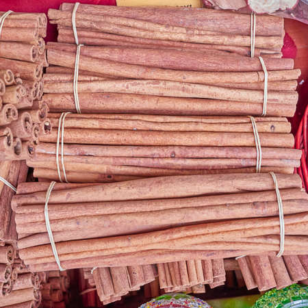 cinammon: Cinnamon rolls closeup, spicy  Stock Photo