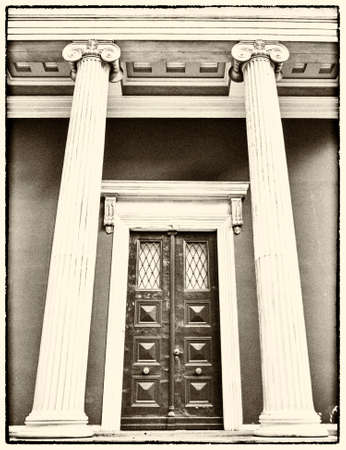 neoclassical: Athens, Greece, neoclassical vintage entrance, instagram filtered