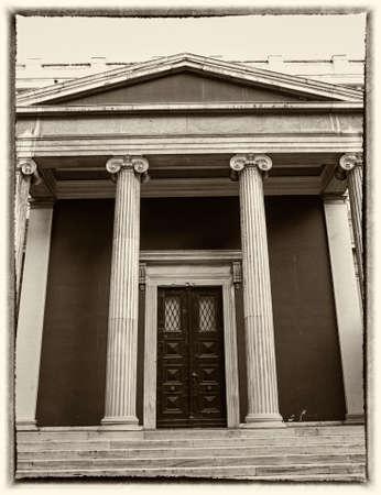 neocl�sico: Atenas, Grecia, entrada neocl�sica vintage, filtra