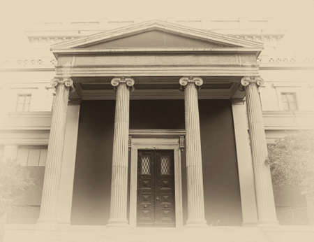 neoclassical: Athens Greece neoclassical vintage entrance instagram filtered