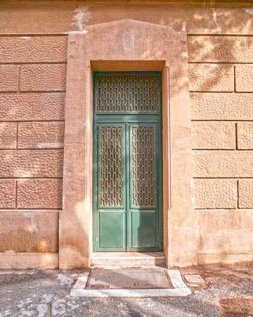green door: vintage green door Athens Greece