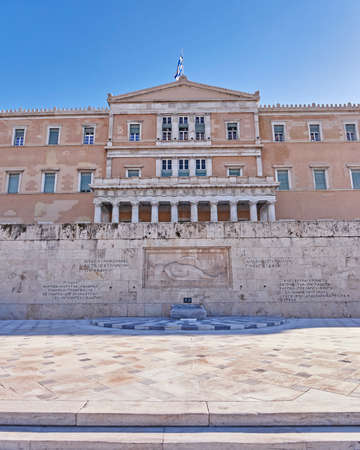 syntagma: Athens Greece the parliament on Syntagma square ex kings palace