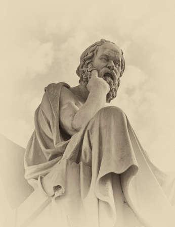 Socrates de Griekse filosoof standbeeld Stockfoto