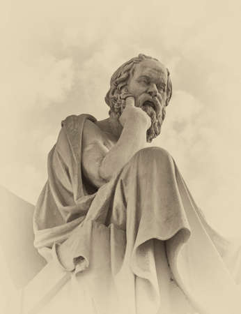 Socrates the Greek philosopher statue Stock Photo