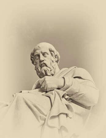 プラトン ギリシャの哲学者像 写真素材