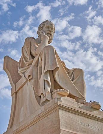 Socrates the Greek philosopher statue Stock Photo
