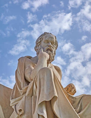 statues: Socrates the Greek philosopher statue Stock Photo