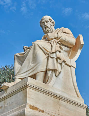 Plato the Greek philosopher statue photo