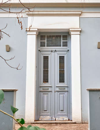 old neoclassical house door, Athens Greece