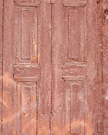 closure: weathered brown wooden closure, grunge background