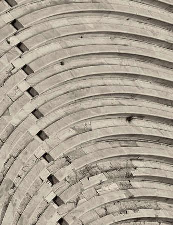 bleachers: bleachers of Herodion ancient theater, Athens Greece Stock Photo