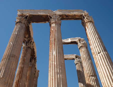 olympian: Athens Greece, olympian Zeus ancient temple columns