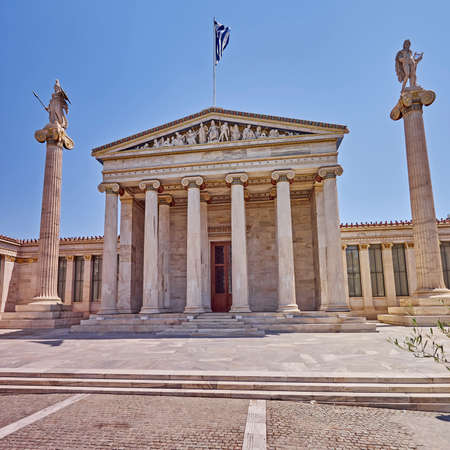 neoclassical: Athens Greece, the national academy neoclassical facade