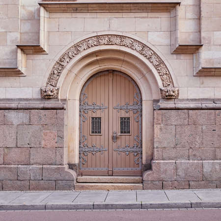 arched: impressive arched entrance of a vintage building, Germany