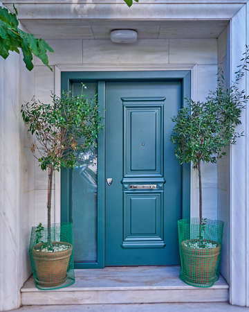 green door: elegant house green door, Athens Greece