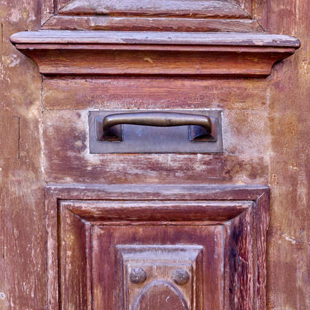 door handle: vintage door handle closeup