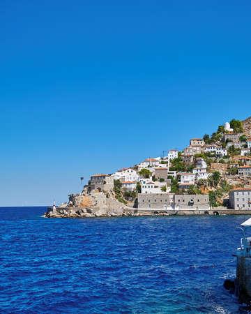 Greece, Hydra island town scenic view Stock Photo