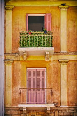 nafplio: Greece Nafplion, balcony of a vintage house