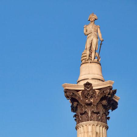 trafalgar: London, Nelsons column in Trafalgar square
