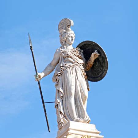 Greece, Athena the goddess of knowledge and wisdom statue