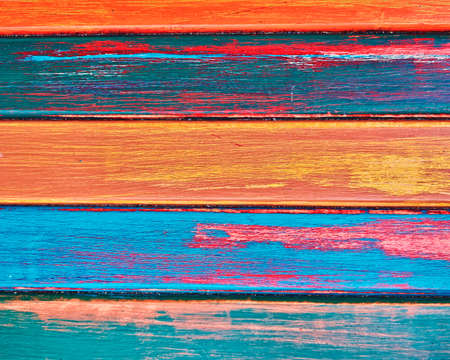 painted wood stripes closeup, colorful background