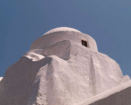 Picturesque church dome, Mykonos island, Greece