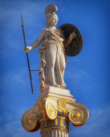 Greece, statue of Athena the ancient goddess of wisdom and knowledge