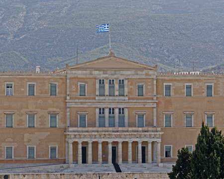 Athens Greece, the national parliament neoclassical building