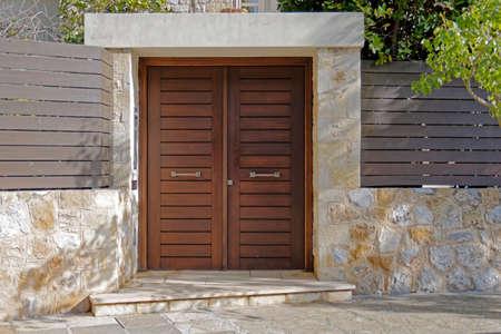 contemporary house entrance, Athens Greece