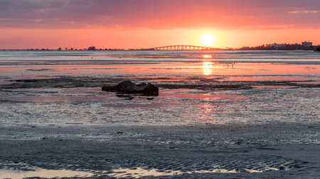 carlos: Sunset, San Carlos Bay, Bunche Beach Preserve, Florida Stock Photo