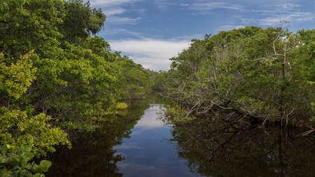 Landscape, J.N. Ding Darling National Wildlife Refuge, Sanibel Island, Florida, USA Stock Photo