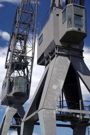dragline: Old cargo crane at a port