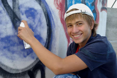 Graffiti boy photo