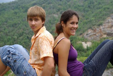 Teenage boy and girl Stock Photo - 5557653