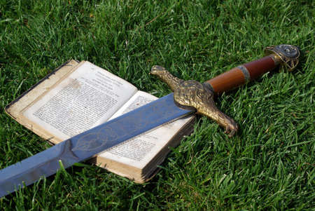 The sword - word of god Stock Photo