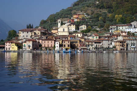 Country viewed from the Iseo lake