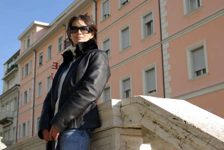 Woman with sunglasses photo